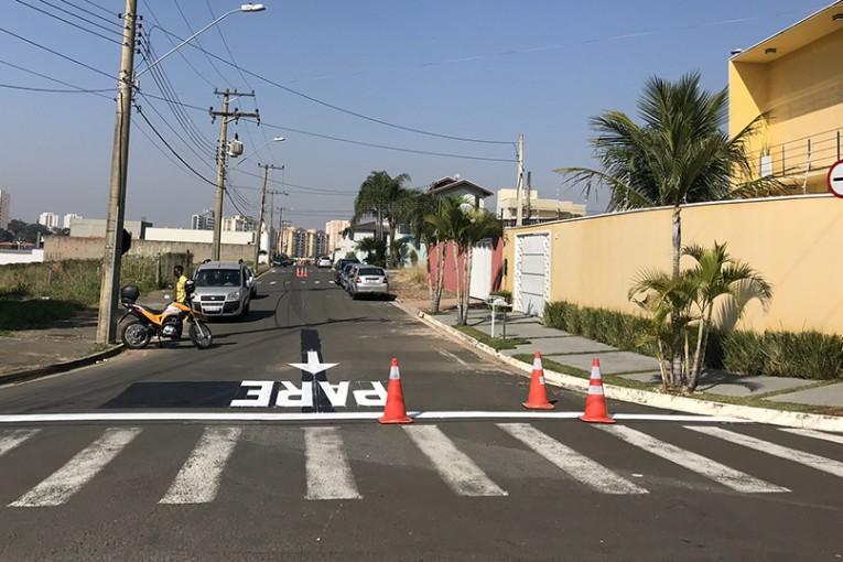 Secretaria de obras altera direção de trânsito da rua Edésio José Capovilla